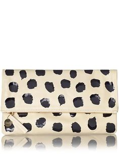 clare vivier polka dot fold over clutch - one for bestie & one for me!