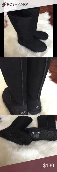 ✨New✨ Tall Ugg Boots!!! New. Never worn!!! Authentic!!! All the tags are pictured!! These are a 6 youth size but also fits a women's 8!! These are a fall/ winter must have for any closet!!! Free free to ask any questions                                     🌸Happy Poshing🌸 UGG Shoes Winter & Rain Boots