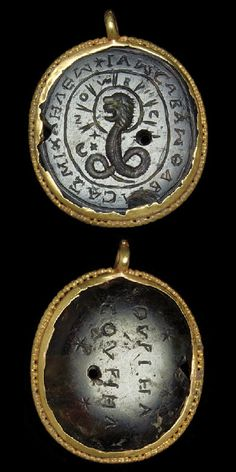 Gold and Heliotrope pendant. C. 3rd-4th Century Roman.