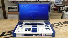 Une PlayStation 4 portable aux couleurs de R2-D2 - http://www.leshommesmodernes.com/playstation-4-portable-r2-d2/