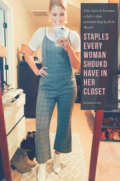 Staples every woman should have in her closet!