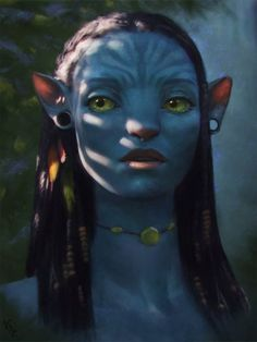 Avatar Fan Art 1 Day by AngelGanev on DeviantArt - for bad times - Zeichnung Character Inspiration, Character Art, Character Design, Costume Halloween, Fantasy World, Fantasy Art, Tinta Facial, Avatar James Cameron, Avatar Babies