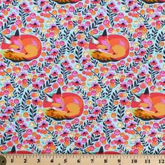 Fox Fabric Tula Pink Fox Nap in Sorbet Floral Designer Quilting Cotton Tula Pink Fabric, Fox Fabric, Stash Fabrics, Pink Fox, Shops, Free Spirit Fabrics, Wet Bag, Cotton Quilting Fabric, Traveling With Baby