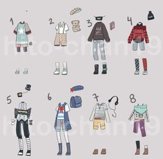 [Auction][CLOSED] Outfit Batch 8 by https://tinyhito.deviantart.com on @DeviantArt