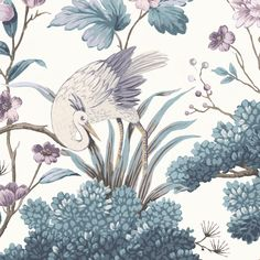 Crane Bird in Japanese Red Wallpaper By Woodchip & Magnolia Tree Leaf Wallpaper, Grape Wallpaper, Black Floral Wallpaper, Mustard Wallpaper, Oriental Wallpaper, Mint Wallpaper, Botanical Wallpaper, Sunset Wallpaper, Blue Wallpapers