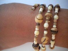 Bracelet 3 spirales graines d'acai - bracelet - Nature-en-Bijoux - Fait Maison