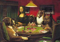 Mona Lisa playing poker by michaelmwc3, via Flickr