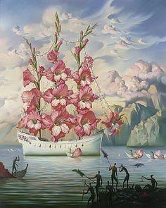 flower ship surrealism art painting famous