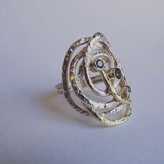 Zilver & goud en tourmalijn.