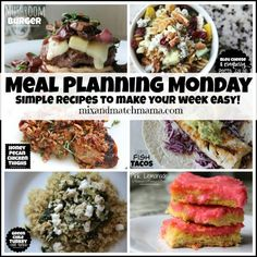 Meal Planning Monday #182