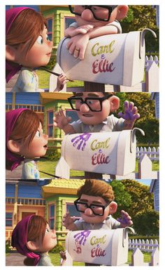 Carl and Ellie a love story for the ages