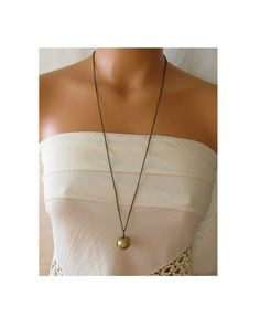 locket necklace vintage ball locket pendant by KriyaDesign on Etsy, $26.00