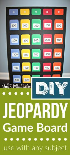 Make your own Jeopardy game board - use with any subject