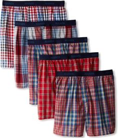 Hanes Men's Classics 5 Pack Young Fashion Plaids Boxer, Assorted Plaid, X-Large: Young men's fashion plaids exposed waistband boxer American Eagle Boxers, Trendy Clothing Websites, Young Fashion, How To Make Shorts, Medium, Underwear, Menswear, Plaid, Mens Fashion