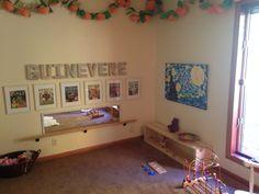 Montessori Bedroom Pull Up Bar Low Shelf