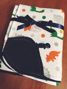 Dinosaur Flannel Baby/Toddler Blanket by DefinitelyBabyShop