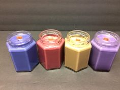 My new line of Wood Wick candles.