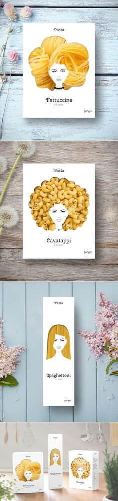 Clever Packaging Makes Cavatappi Noodles Look Like Gorgeous Hair