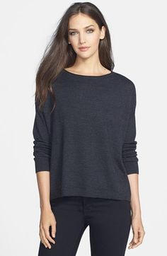 Eileen Fisher Merino Jersey Ballet Neck Top available at #Nordstrom