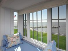 Katharine Hepburn, Old Saybrook Fenwick Connecticut. Window seat with a view.