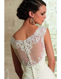 mori-lee-blu-5305-wedding-dress-scoop-neckline-lace-yoke-illusion-back-ruched-bodice-drop-waist-trumpet-silhouette