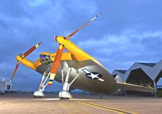 """Known as the """"Flying Pancake,"""" the Vought V-173 was designed during World War II to take off on short runways."""