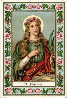 ©Universal Living Rosary Association of Saint Philomena Holy Card 021 | Flickr - Photo Sharing!