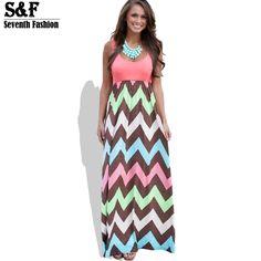 >>>Low PriceHot 2016 High Quality Brand Women Summer Dress Striped Print Long Dress Beach Boho Maxi Dress Feminine Plus Size Wholesale-in Dresses from Women's Clothing