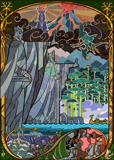 "Gates Of Argonath | Community Post: 17 Passages From ""Lord Of The Rings"" Beautifully Recreated In Stained Glass"