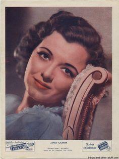 Image detail for -Janet Gaynor Immortal Ephemera Hub: Articles, Photos, Sales | Immortal ...