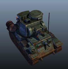Light Tank - 3D Model, J. W. on ArtStation at https://www.artstation.com/artwork/RmzVv
