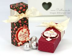 Stampin' Up! Demonstrator Pootles - Pretty Chocolate Box Tutorial using Stampin' Up! DSP