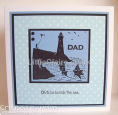 Silhouette Lighthouse stamp
