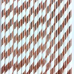 Foil Striped Paper Straws -Set of 25 – Jollity & Co Party Boutique