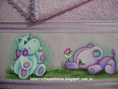 Pintura em Tecido e Artesanato: Que fofura!...Pintura em Toalha Infantil