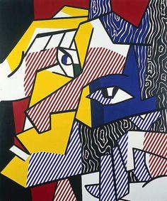 Roy Lichtenstein 1980 - EXPRESSIONIST HEAD b - Oil and magna on canvas (178 x 152 cm). #USA #PopArt @deFharo