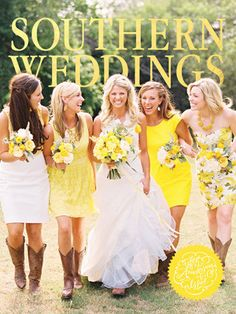 I love the diversity of these bridesmaids dresses