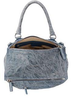 1a000b040c Givenchy Pandora Pepe Sheepskin Medium Shoulder Bag Pandora Bag, Designer  Crossbody Bags, Blue Bags