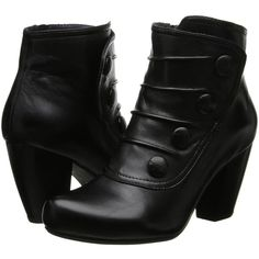 Miz Mooz Denise Women's Shoes, Black ($83) ❤ liked on Polyvore