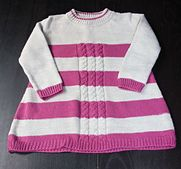 Ravelry: cable stripes dress pattern by hilde vb free pattern soooo... cute!