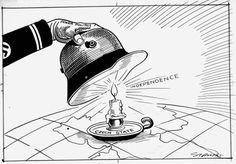 This cartoon, by the British cartoonist Sidney 'George' Strube, appeared in the Daily Express on 16 March 1939. It shows the attitude of the British public towards Germany.
