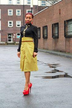 High Waisted ankara/kitenge/African print skirt