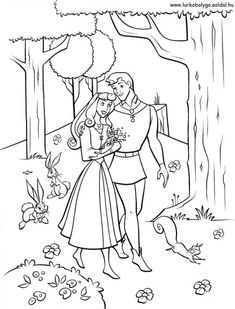 Aurora The Roads In The Forest Coloring Pages Forest Coloring Pages, Animal Coloring Pages, Coloring Book Pages, Disney Princess Aurora, Disney Princess Colors, Prince Philip Disney, Prince Phillip, Sleeping Beauty Coloring Pages, Disney Princess Coloring Pages