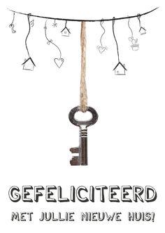 Verhuiskaart voor de sleutel van nieuw huis | Kaartje2go