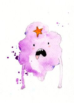 Lumpy Space Princess Mini Print 5x7 inch inch inkjet print / Adventure Time Fan Art. $6.00, via Etsy.