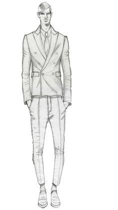 Shrunken suit, Pitti Uomo Firenze.