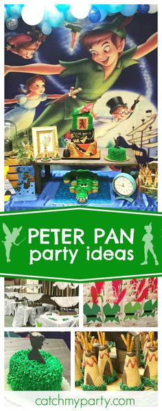 "peter pan first birthday / birthday ""welcome to neverland"""