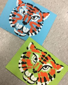 "269 Likes, 13 Comments - Mrs. Hope Knight (@smartestartists) on Instagram: ""I had fun experimenting with tiger face symmetry prints today! Looking forward to trying this in…"""