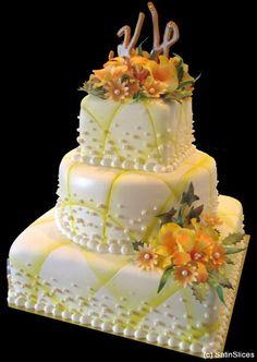 Pretty wedding cake by Satin Slices