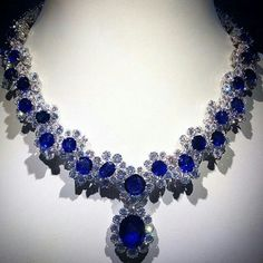 Jewelry Advice And Tips Expensive Gifts, Sapphire Necklace, Bvlgari Necklace, Sapphire Jewelry, Beautiful Necklaces, Fine Jewelry, Jewellery, Fashion Jewelry, Glamour